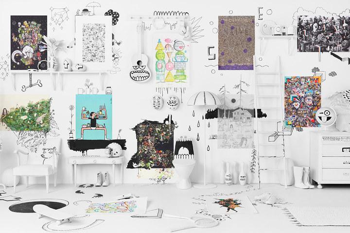 Ikea coleccion art event 2017 ph141448 laminas payer gabriel greengerg hello jullien lyons taselaar hahan persson sasada urruty concejo harrington