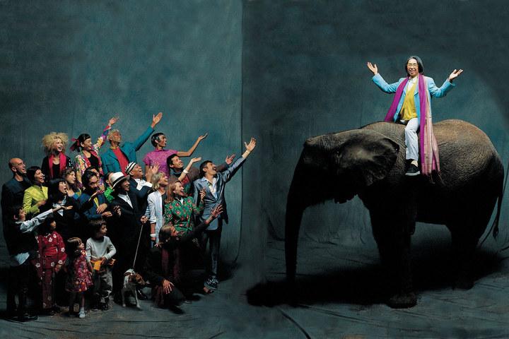 Kenzo elephant  paris 1992 jean marie perier galerie photo 12  bd