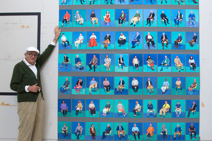 83 portraits and 1 still life los angeles 18th may 2016 david hockney photo by jean pierre gonc%cc%a7alves de lima