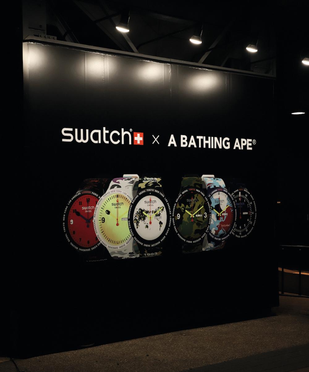 Sm01 19 swatch x bape pr event backdrop print