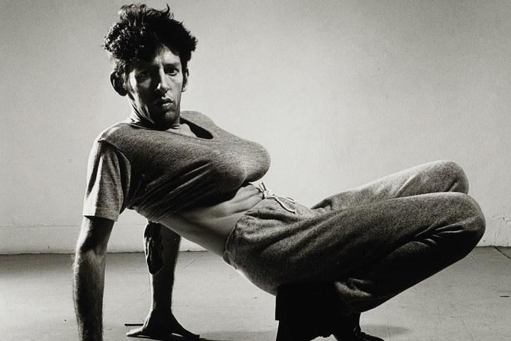 Peter hujar john heys with orange breasts  1983